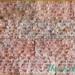 đá chẻ hồng ốp tường